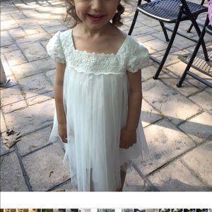 David's bridal girls flower girl dress t worn 1x
